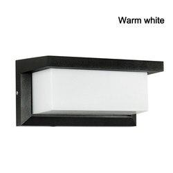 IP55 12W LED zewnętrzna lampa ścienna ścienna nowoczesna lampa AC85 265V wodoodporne oświetlenie zewnętrzne do domu W ogrodzie w Zewnętrzne lampy ścienne od Lampy i oświetlenie na