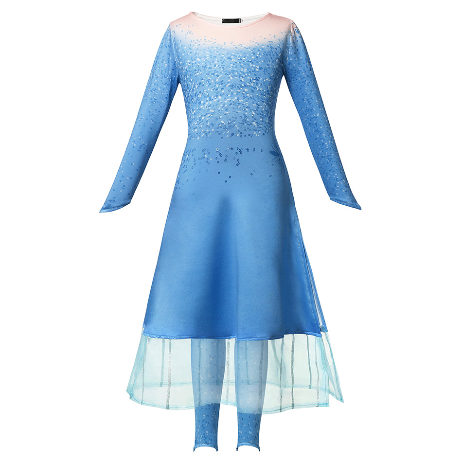 H29a488ac3329496482ff5b9daae3a0b1j - Fancy Baby Girl Princess Clothes Kid Jasmine Rapunzel Aurora Belle Ariel Cosplay Costume Child Elsa Anna Elena Sofia Party Dress