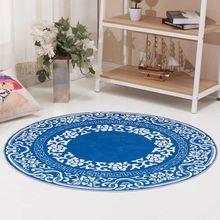 Round mat bedroom carpets cotton linen doormat geometric pattern