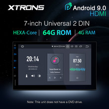 XTRONS 7 ''PX6 Android 9.0 Universele 2 Din Auto Multimedia Radio Audio Stereo Speler GPS Navigatie Bluetooth 5.0 HDMI USB GEEN DVD(China)