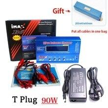 Imax b6 2 6s xt60 80w carregador de bateria descarregador para lipo nimh li ion ni cd + 15v 6a adaptador + testador de bateria