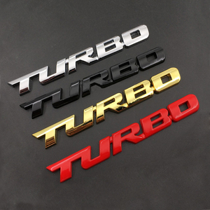 3D Emblem TURBO METAL GRILL Rear Trunk Car Badge car sticker for Audi BMW Ford focus VW skoda seat Peugeot lada Renault Hyundai