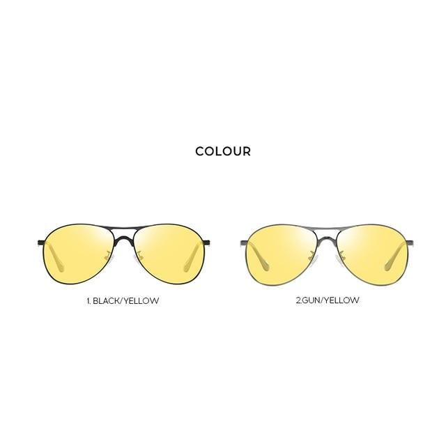 Classic Retro Designer Nighttime Driving Glasses for Women Men Aviation Polarized Night Driving Sunglasses Goggles UV400 4