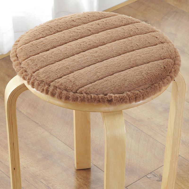 New Thicken Round Pad Winter Plush Chair Seat Cushion Sponge Chair Cushion Chair Seat Cushion Office Student Classroom Ass Mat
