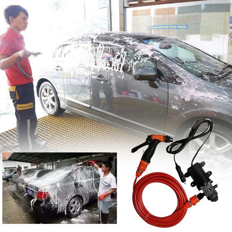 2019 New Car Washer Pump High Pressure Washer Power Pump System Kit DC 12V 130PSI Household Car Washer Washing Machine