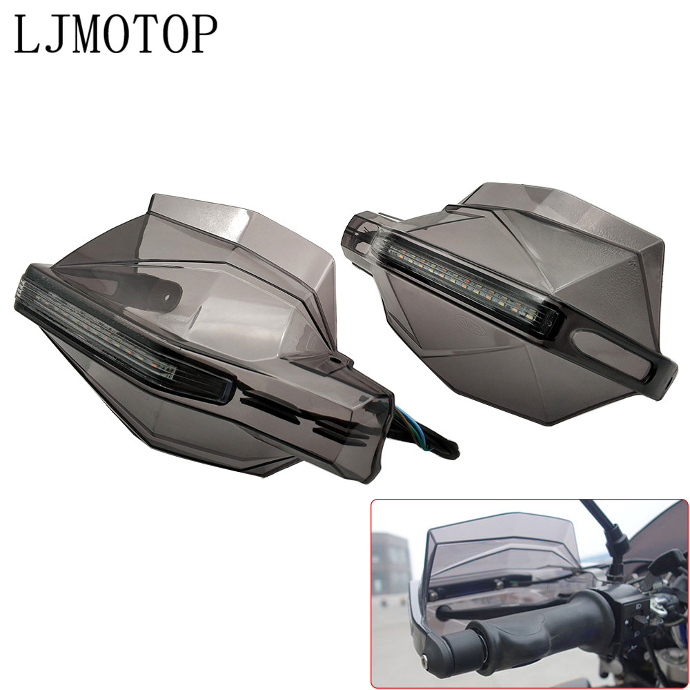 Motorcycle Hand Guard Handle Protector HandGuards with LED Signal Light For Honda CBR250R CBR 250R VFR 1200 F <font><b>VFR1200</b></font> NC 750 S/X image