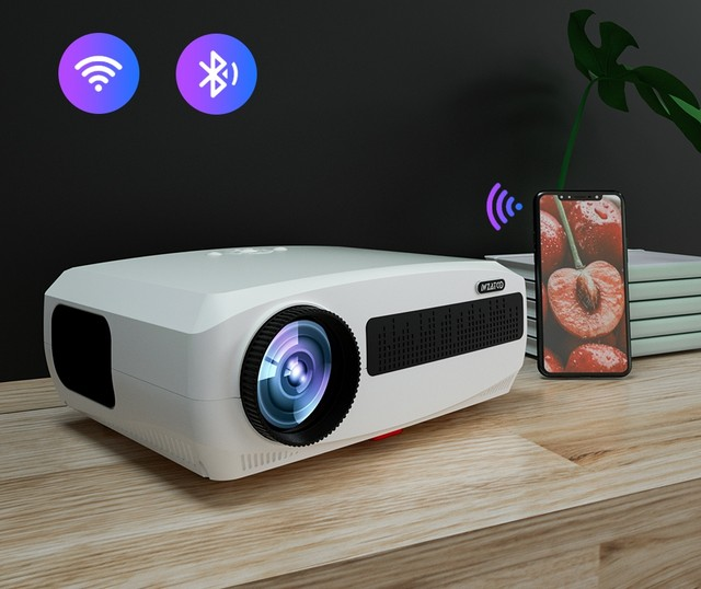 WZATCO C3 4K Full HD 1080P LED Projector Android 10 Wifi Smart Home Theater projector 5A