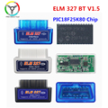 Super Mini ELM327 V1.5 Bluetooth PIC18F25K80 ELM 327 в 1 5 OBD2 диагностический инструмент с поддержкой протоколов J1850 автомобильные аксессуары