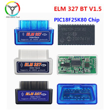 Herramienta de diagnóstico de coche, accesorio Super Mini ELM327 V1.5 Bluetooth PIC18F25K80 ELM 327 V 1 5 OBD2, compatible con protocolos J1850