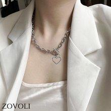 Женская цепочка в стиле панк zovoli колье с золотым и серебристым