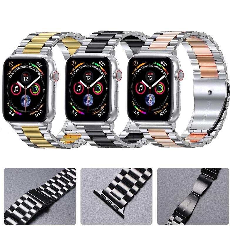 Cinturino in metallo per cinturino Apple Watch 44mm 42mm 40mm 38mm bracciale in acciaio inossidabile per iWatch 6 SE 5 4 3 2 1 accessori serie 2