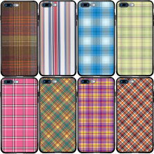 Kemeja Kotak-kotak Plaid Stripes Penutup Case untuk Samsung Catatan S10E 8 9 S6 S7 Edge S8 S9 S10 S20 Lite plus Ultra(China)