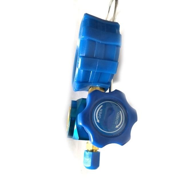 R410A R22 R134A Refrigerant High/Low Pressure Gauge 1/4 Auto Car Air Conditioning Refrigerant Pressure Gauge Tool Blue