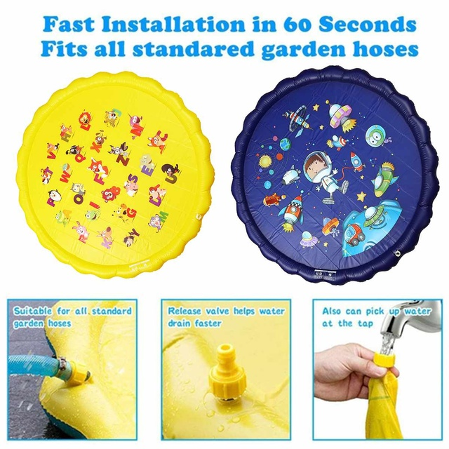 170cm PVC Spray Water Cushion Summer Children Kids Play Sprinkler Mat Carpet Spray Outdoor Swiming Pool Toy Fun NEW