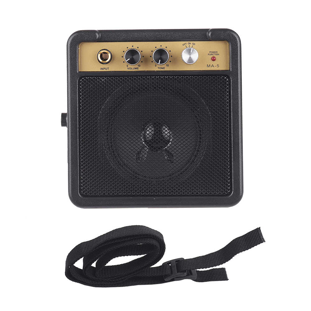 Electric Amplifier for Guitar Amp Speaker 5W with 6.35mm Input 1/4 Inch Headphone Output Supports Volume Tone Adjustment
