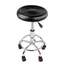 5 rouleaux tabouret en cuir hauteur réglable chaise de Bar travail chaise rotative tabouret pivotant tabourets de Bar réglables pivotant Banqueta