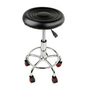 Image 1 - 5 rouleaux tabouret en cuir hauteur réglable chaise de Bar travail chaise rotative tabouret pivotant tabourets de Bar réglables pivotant Banqueta