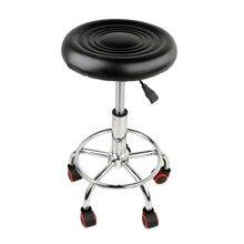 Cadeira de couro giratória ajustável, banqueta de barra ajustável altura do fogão giratório 5 rolos