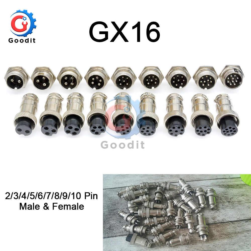 1 ชุด GX16 2/3/4/5/6/7/8/9/10 ชาย & หญิง 16 มม.L70-78 Connector การบินปลั๊กสายไฟ Circular Connector ฝาปิด