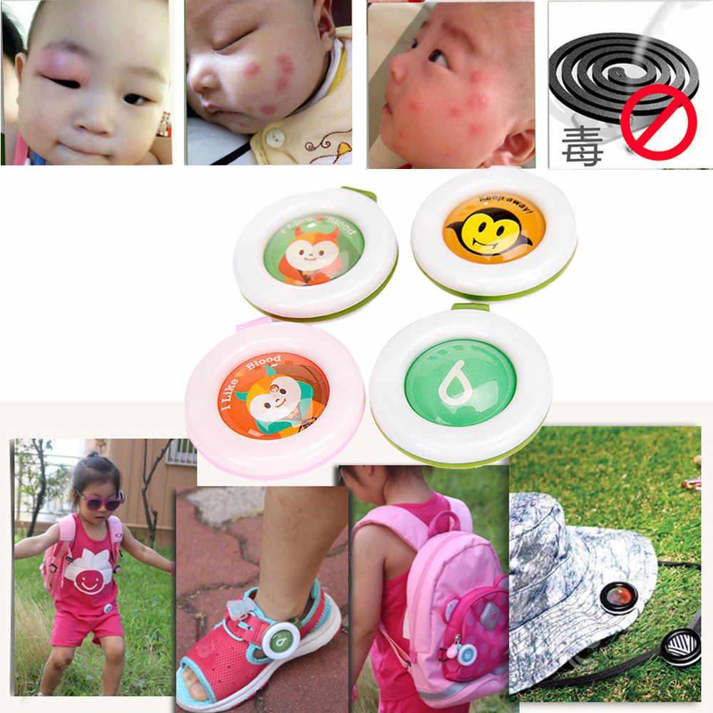 ยุงกลางแจ้งในร่มปุ่มเด็กทารกหัวเข็มขัด Anti-ยุงกันน้ำสุ่มส่งแมลง F1212