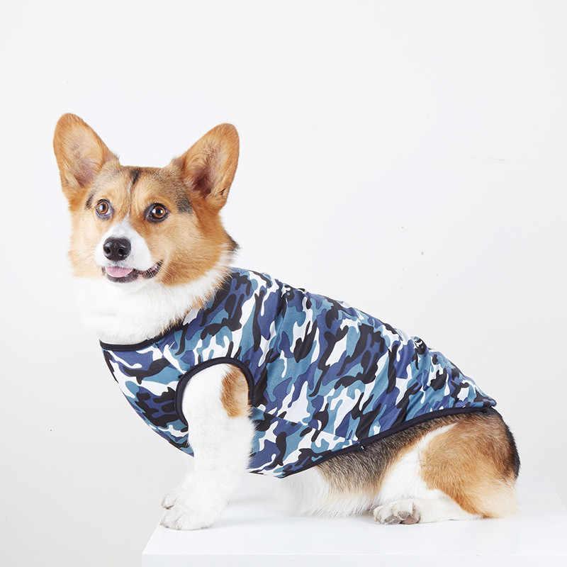 Camuflaje perro chaleco verano perro ropa mascota traje gato cachorro disfraz Poodle Corgi Samoyed Golden Retriever Big perro ropa