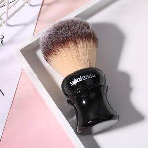 Image 4 - Yaqi pincel de barbear sintético com punho preto, 24mm, amarelo, cabelo sintético, molhado