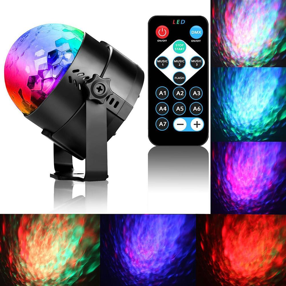 USB Led Stage Lighting Effect 100-240V 4W Magic Ball Strobe Light 7 Colors Disco Light Stage Light For Bar Club Party Wedding