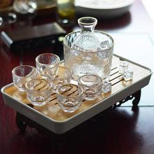 6Pcs/Set Glass Sake Set Japanese Flagon Liquor Pot Cup Home Kitchen Cup Drinkware Vintage Spirits Hip Flasks Creative Gifts
