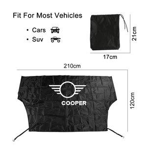 Image 5 - Car Windshield Snow Ice Dust Block Sun Shade Cover For MINI Cooper F57 Cabrio F54 CLUBMAN S R60 Countryman R61 Auto Accessories