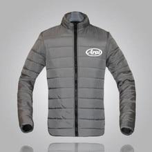 купить Arai brand winter jacket Parker men Arai autumn and winter warm jacket brand Slim men's jacket casual Arai printing S-3XL недорого