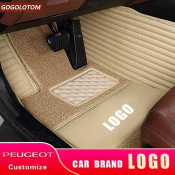 Custom Car Floor Mats for Peugeot 308 CC SW I II 1 2 308cc 308sw Hatchback Kasten Saloon Sedan Convertible Estate Mat Carpet