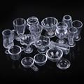 17 Teile/satz 1:12 Puppenhaus Mini Transparent DIY Pretend Spielen Geschirr Spielzeug Trinken Tassen Gericht Geschirr Miniaturen