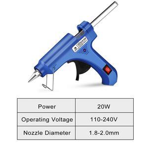 Image 2 - Hot Melt Glue Gun with Glue Stick 7mm 11mm Mini Gun Thermo Electric Heat Temperature Tool pistola de silicona calien EXCITEDWORK