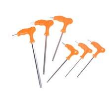 Дальней досягаемости, с Т-образной ручкой ручка Torx шестигранные отвертка гаечные ключи для ручных инструментов и 2,5/3/4/5 мм Т-образная ручка шестигранный ключ, дюймовый стандарт ручка
