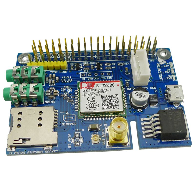 Новый SIM800C GSM GPRS модуль четырехдиапазонная Плата развития для Raspberry Pi