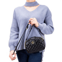 Luxury Ladies Crossbody Bags Fashion Designer Women Genuine Leather Handbags Mini Plaid Shoulder Bag Wild Small Round Sac a Main