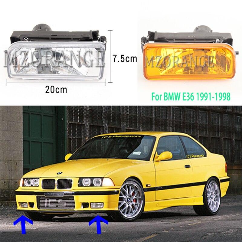 For Bmw E36 Fog Lights Headlight 1992-1998 Lights Front Bumper Fog Light Spare Part Headlights Fog Lamps Foglights Foglight