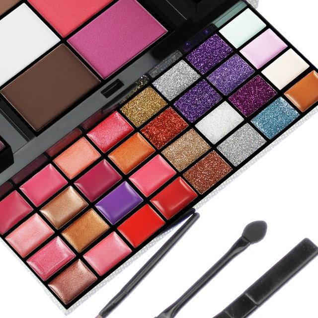 Conjunto de maquillaje para principiantes, caja de maquillaje de 74 colores, Kit de combinación para mujer, sombra de ojos, lápiz labial, brillo de labios, Kits de maquillaje de base de colorete 2