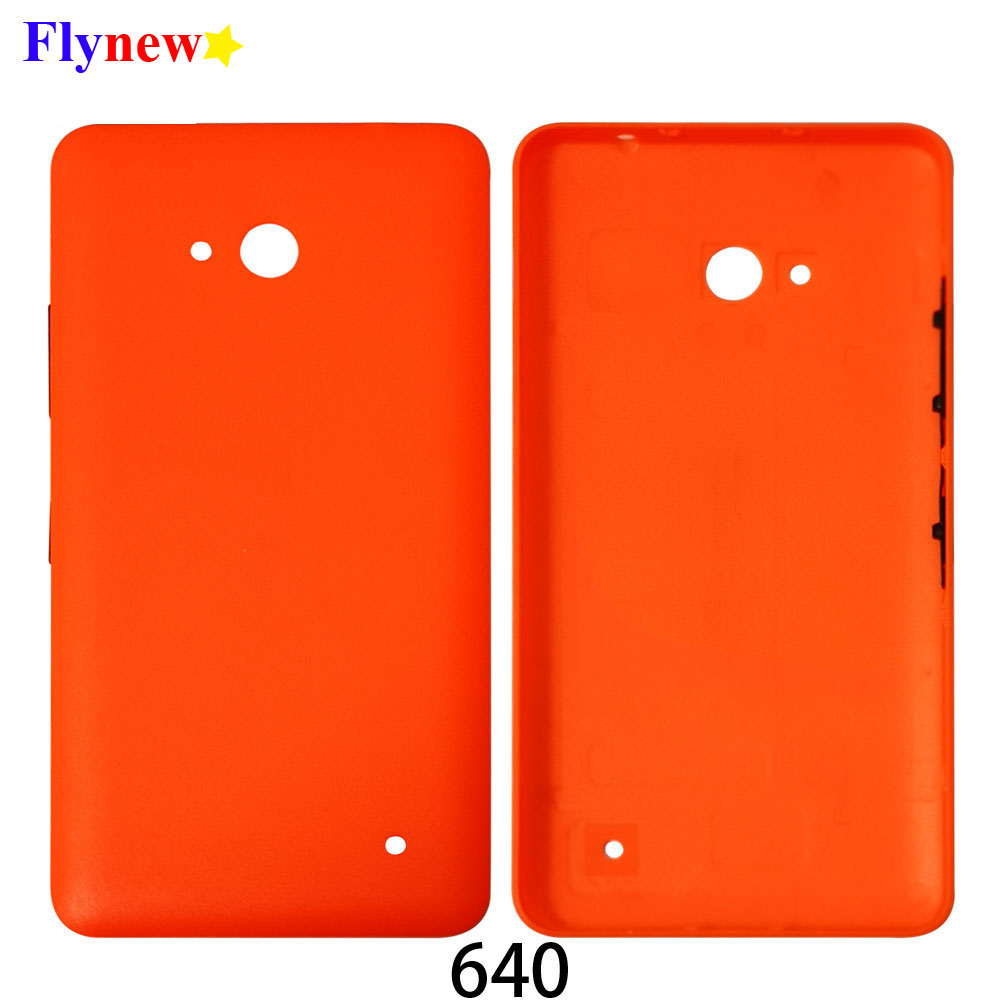 100% Genuine Rear housing for Nokia 640 back battery door cover for Microsoft lumia 640 Back Shell Case with side buttons cover(China)