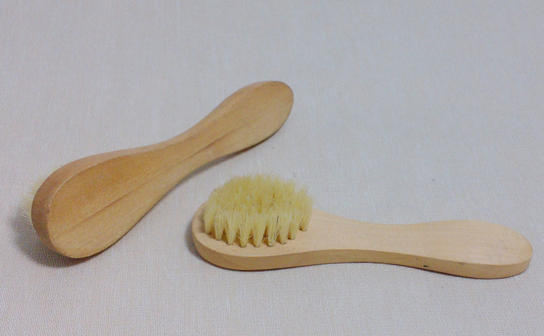 New Wooden Handled Boar-Bristle Brush Face Brush Natural Bristle Wood Hand - Skincare & Spa Products SCI88