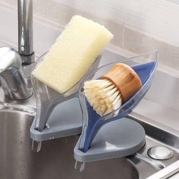 Liście drzewa mydelniczka kreatywne mydło uchwyt bez dziur mydelniczka mydelniczka przyssawka opróżnianie mydelniczka łazienkowa łazienka przechowywanie tanie i dobre opinie CN (pochodzenie) Z tworzywa sztucznego CN(Origin) Bathroom Soap Holder Plastic bathroom kitchen