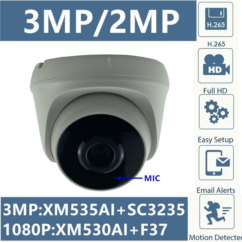 Integrate MIC 3MP 2MP IP Ceiling Dome Camera XM535AI+SC3235 2304*1296 H.265 1080P Infrared IRC Onvif CMS XMEYE RTSP Radiator|Surveillance Cameras| - AliExpress