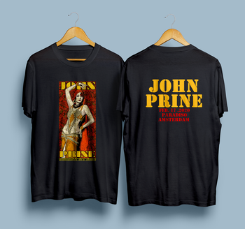John Prine Feb 17 2020 At Paradiso Amsterdam New T Shirt Regular S-3Xl Us Size image