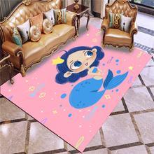 Ковер Русалка с 3d рисунком семейный ковер для спальни гостиной