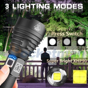 Image 5 - XHP90 linterna LED de gran alcance XHP70.2, lámpara recargable vía USB, luz táctica con Zoom 18650 y 26650, para acampar y cazar