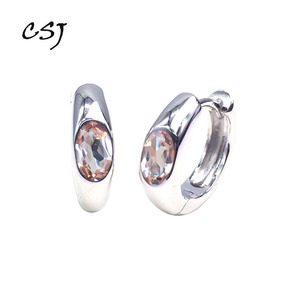 Женские серьги с зултанитом CSJ, ювелирные украшения из стерлингового серебра, вечерние свадебные серьги или Подарочная коробка для мам