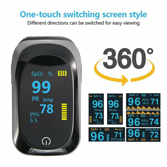Medical original Fingertip Pulse Oximeter De Dedo Pulso Blood Oxygen Saturation Monitor Finger Pulse Oxygen Heart Rate Meter