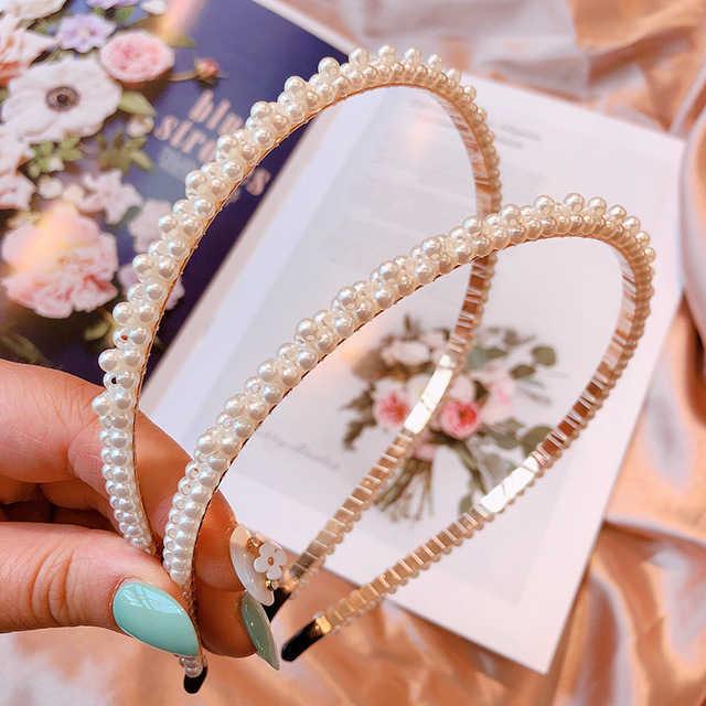 Nieuwe Luxe Grote Parel Hoofdband Vrouwen Boog Zonnebloem Hoops Meisjes Haar Accessoires Sieraden Accessoires Voor Vrouwen