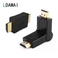 HDMI ל hdmi זכר לזכר מחבר מצמד זהב מצופה 4K HDMI כבל מאריך מתאם ממיר עבור HDTV מחשב נייד מקרן