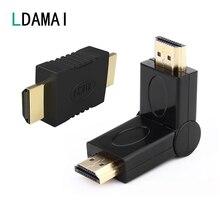 HDMI vers HDMI mâle vers mâle connecteur coupleur plaqué or 4K HDMI câble Extender adaptateur convertisseur pour HDTV projecteur pour ordinateur portable